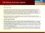 pbi market summary update