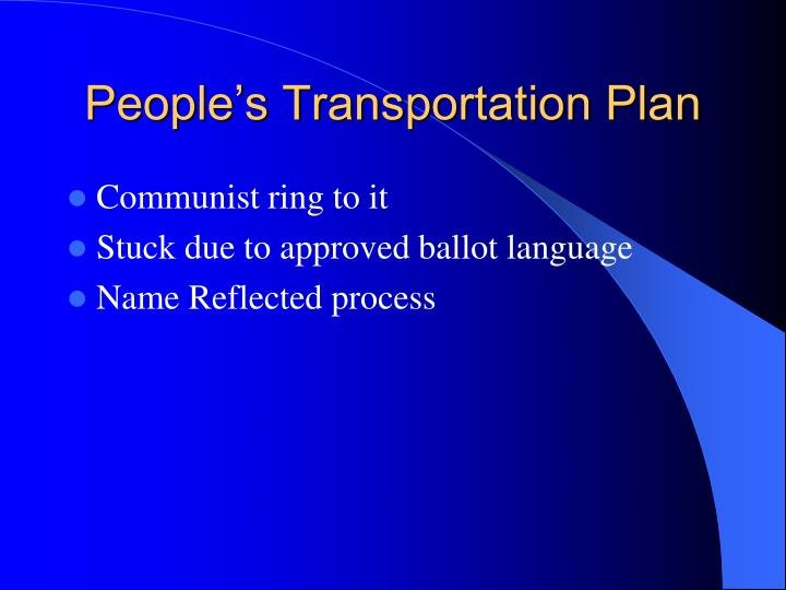 People's Transportation Plan