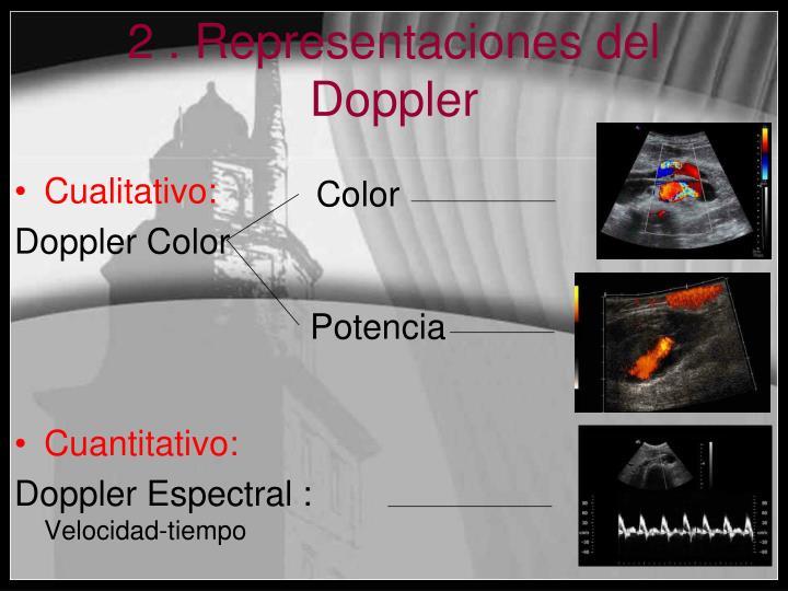 2 . Representaciones del Doppler