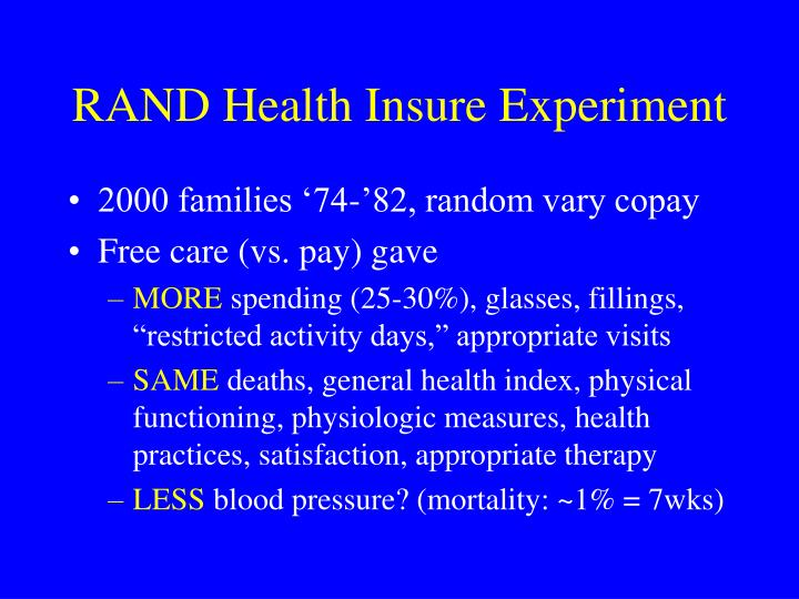 RAND Health Insure Experiment
