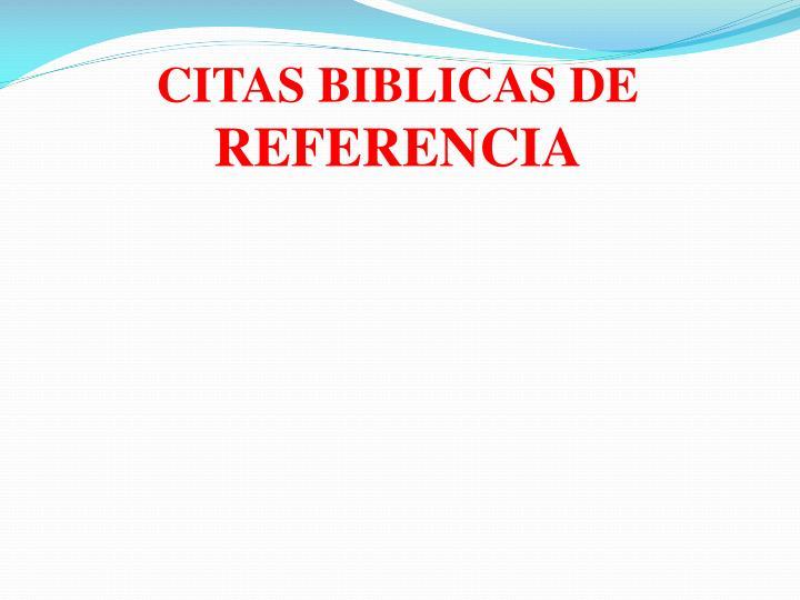 CITAS BIBLICAS DE