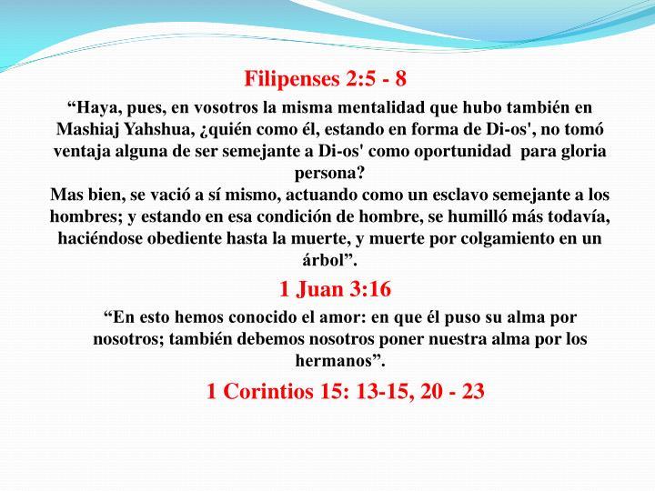 Filipenses 2:5 - 8