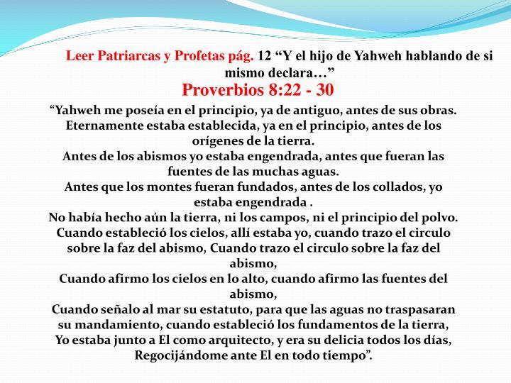 Proverbios 8:22 - 30