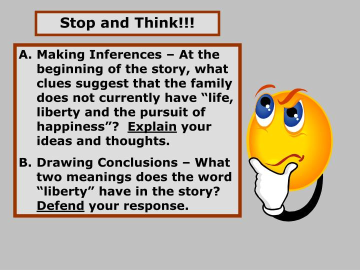 Stop and Think!!!