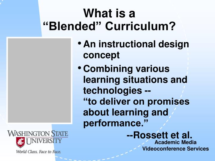 What is a blended curriculum