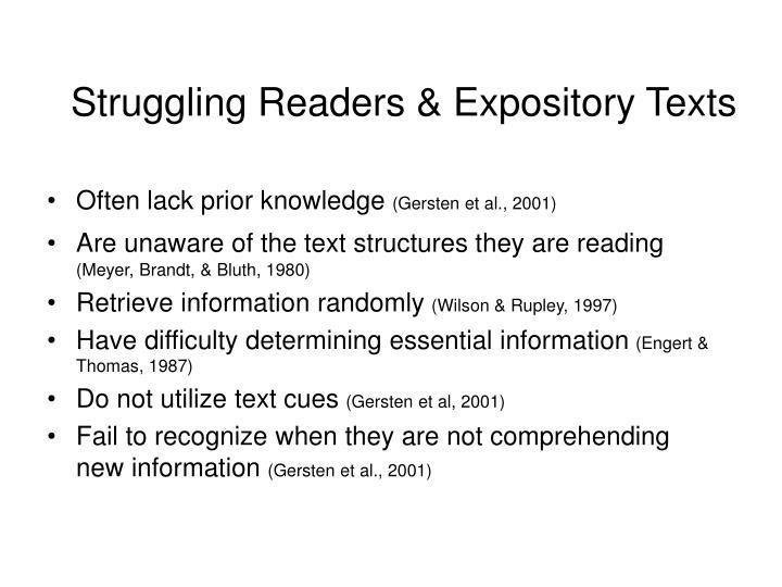 Often lack prior knowledge