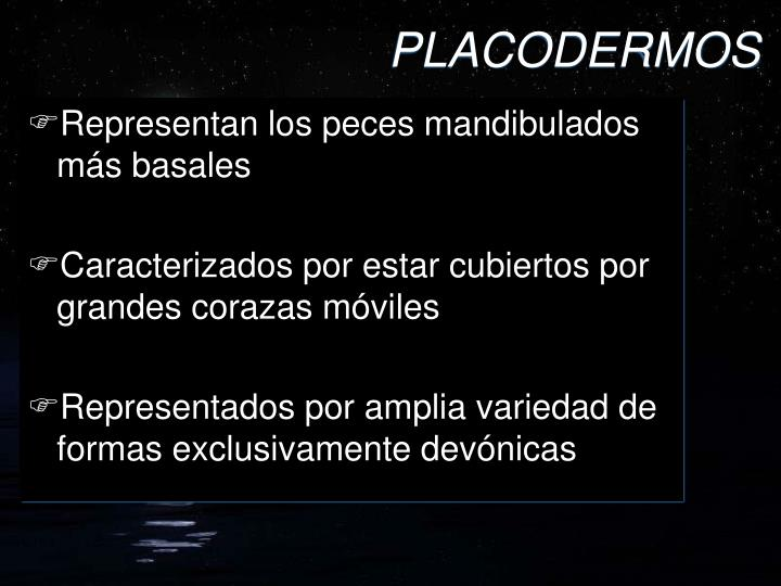 PLACODERMOS