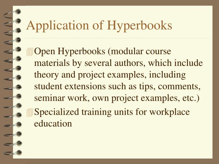 Application of Hyperbooks