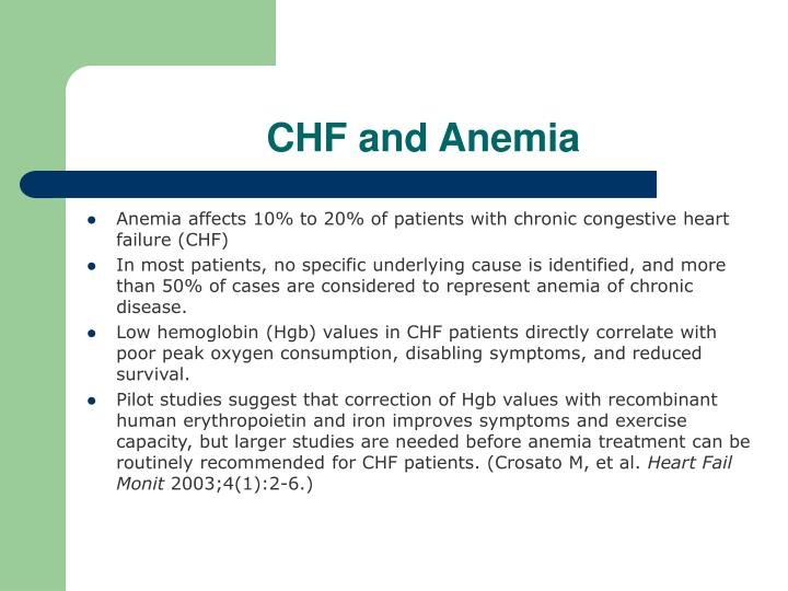 CHF and Anemia