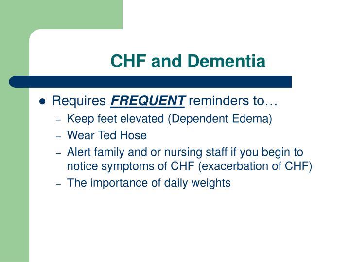 CHF and Dementia