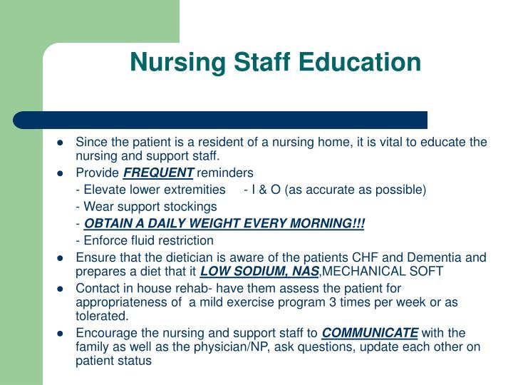 Nursing Staff Education