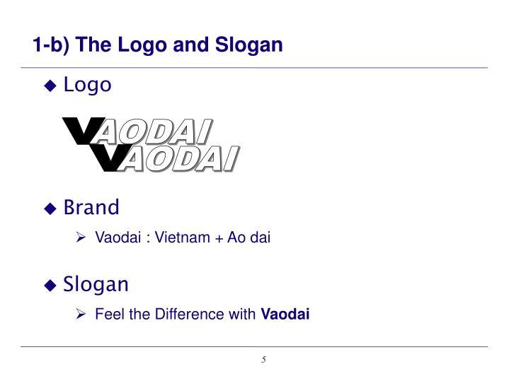 1-b) The Logo and Slogan