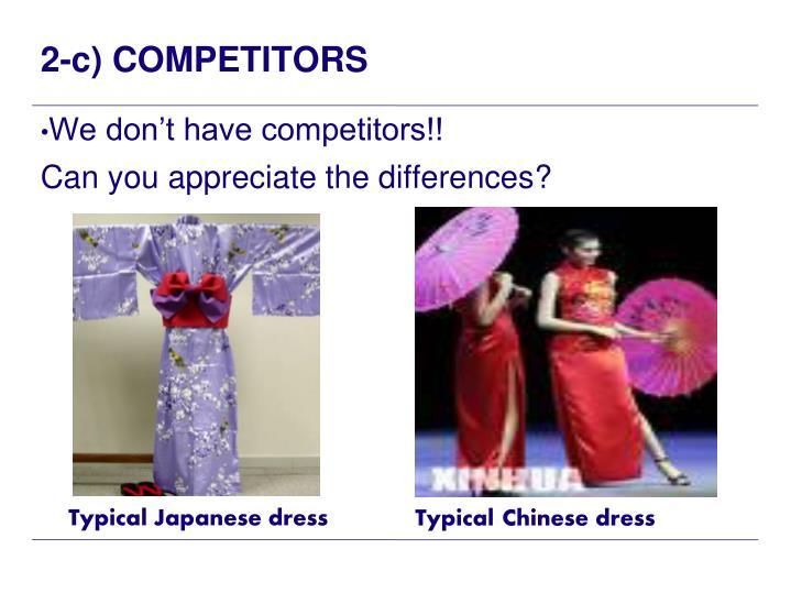 2-c) COMPETITORS