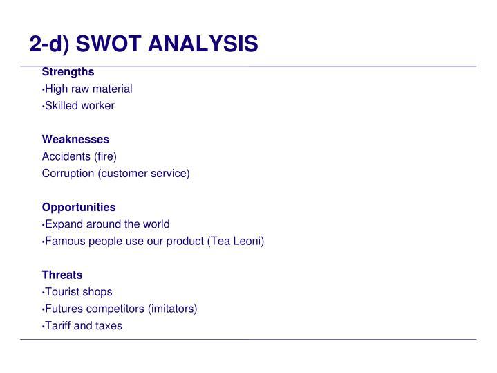 2-d) SWOT ANALYSIS
