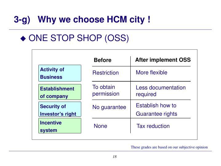 3-g)   Why we choose HCM city !