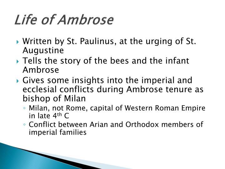 Life of Ambrose
