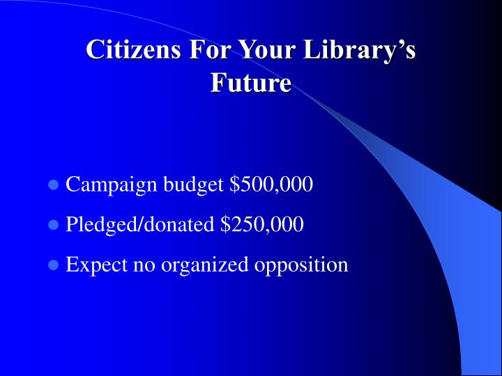 Citizens For Your Library's Future