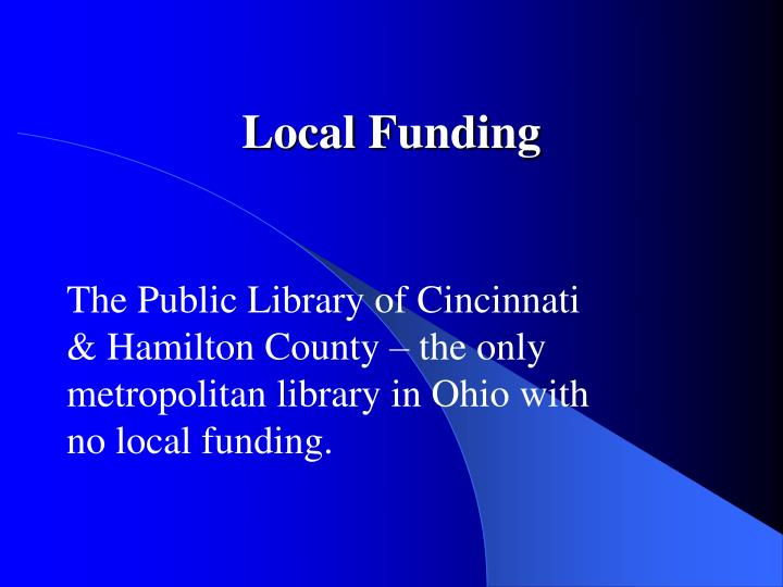 Local Funding