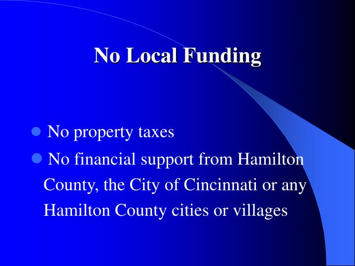 No Local Funding