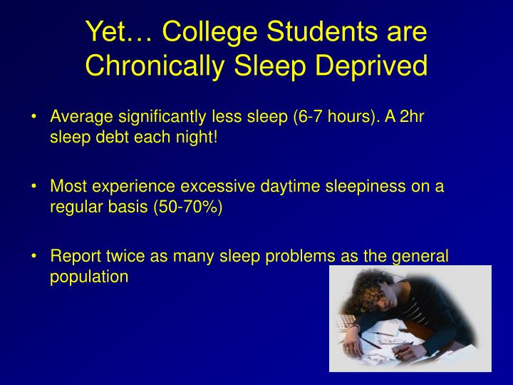 Yet… College Students are Chronically Sleep Deprived