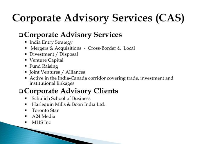 Corporate Advisory Services (CAS)
