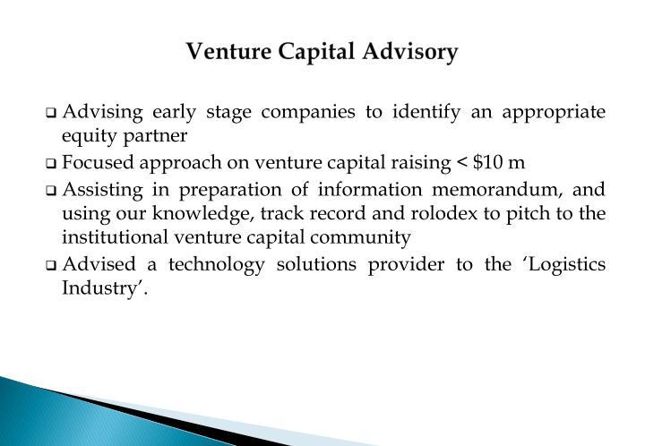 Venture Capital Advisory