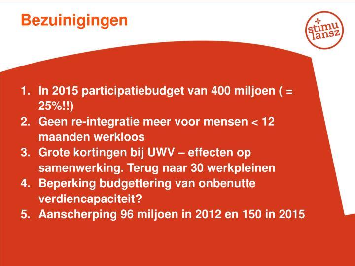 Bezuinigingen