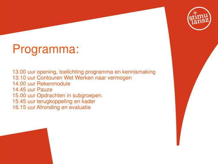 Programma: