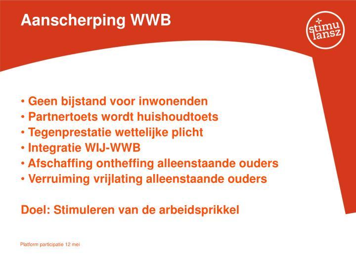 Aanscherping WWB