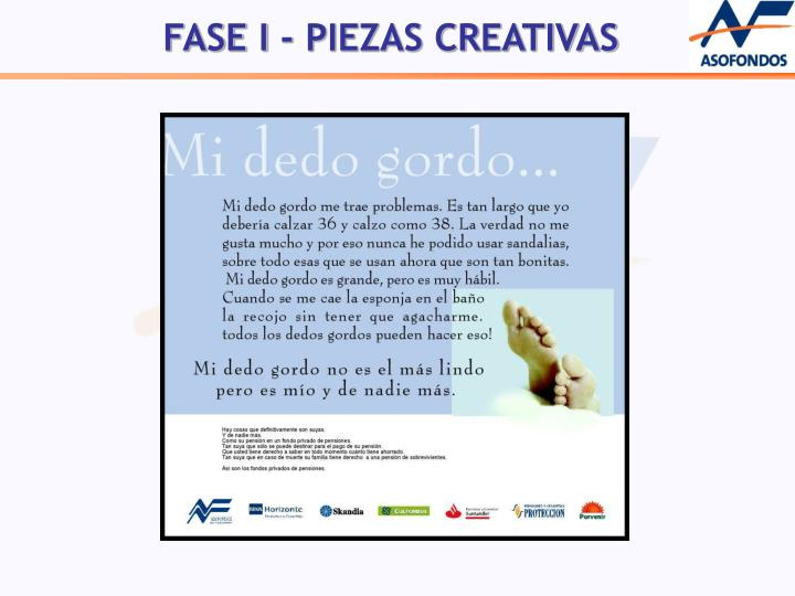 FASE I - PIEZAS CREATIVAS
