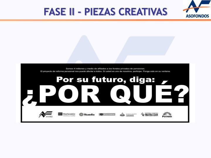 FASE II - PIEZAS CREATIVAS