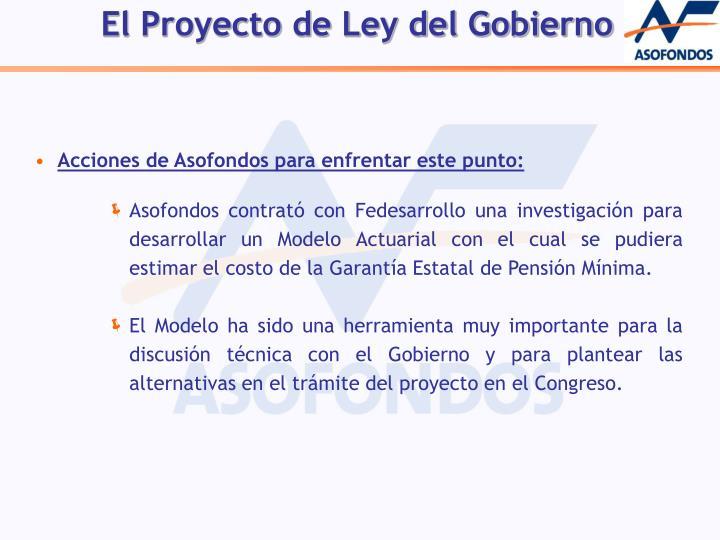 El Proyecto de Ley del Gobierno