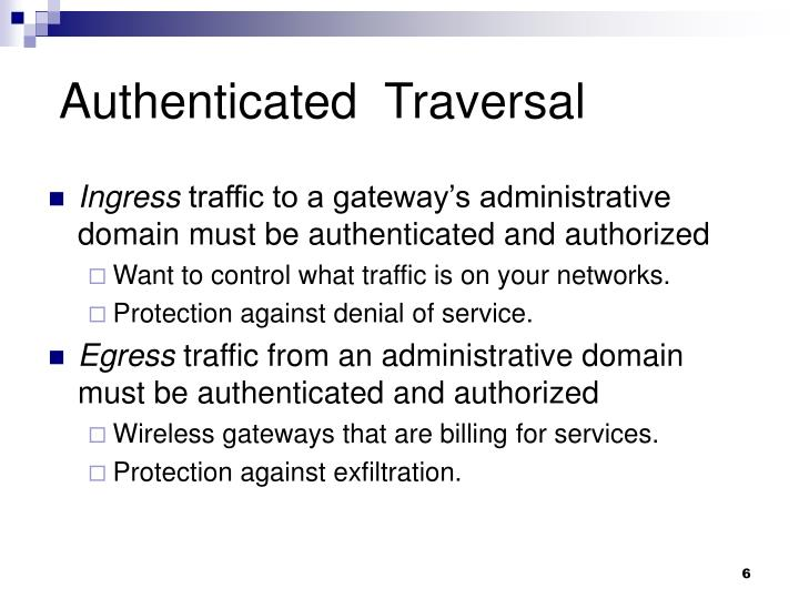 Authenticated  Traversal