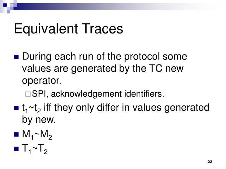 Equivalent Traces