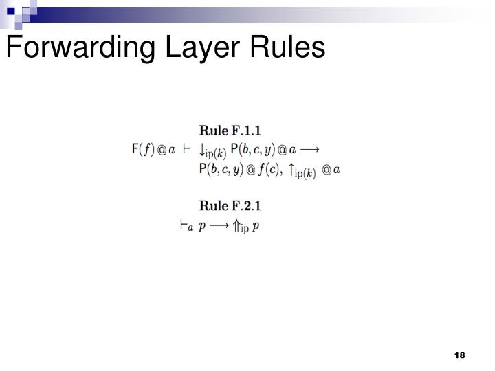 Forwarding Layer Rules