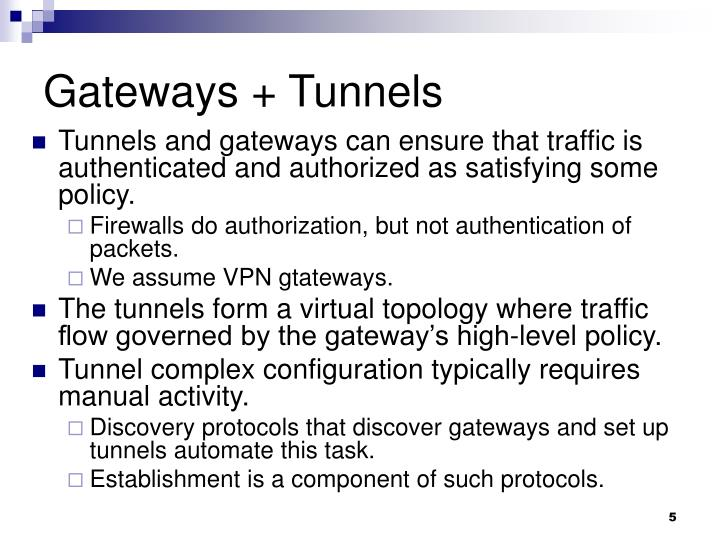 Gateways + Tunnels