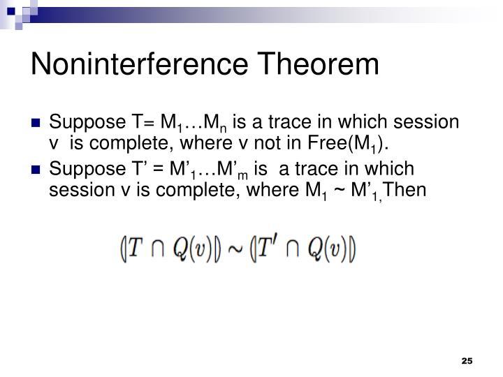 Noninterference Theorem