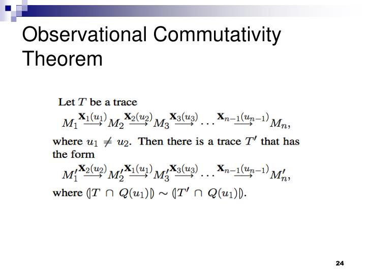 Observational Commutativity Theorem
