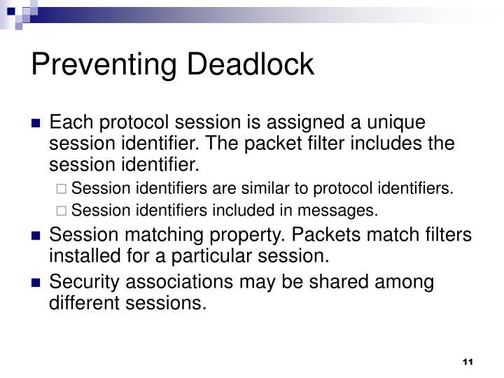 Preventing Deadlock