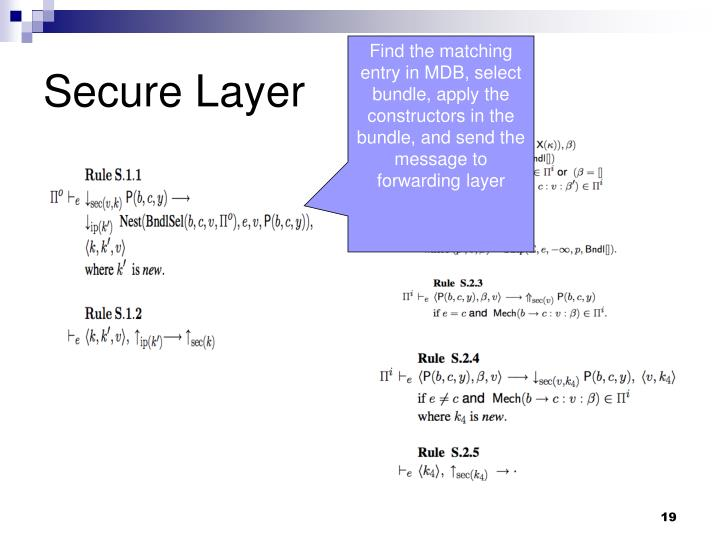 Secure Layer