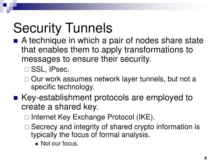 Security Tunnels