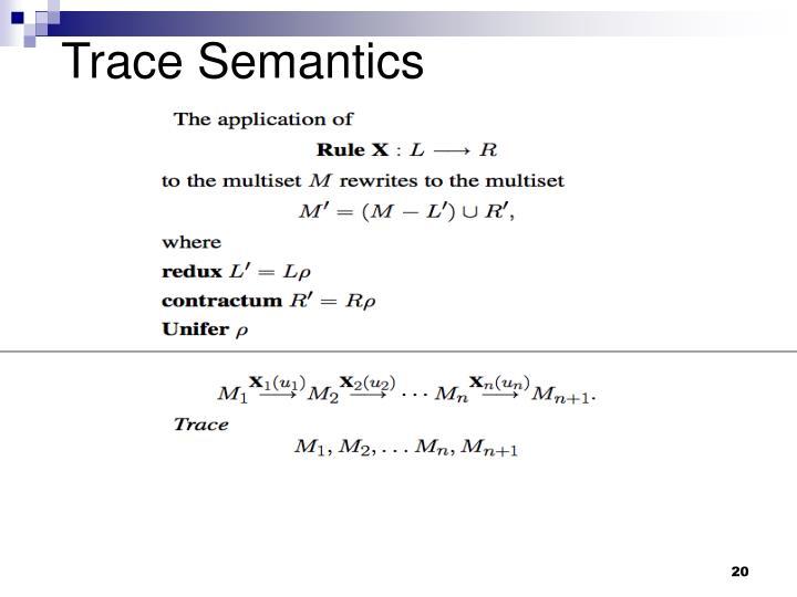 Trace Semantics