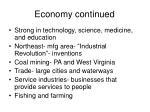 economy continued