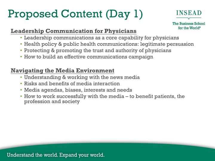 Leadership Communication for Physicians