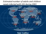 estimated number of adults and children newly infected with hiv during 2001