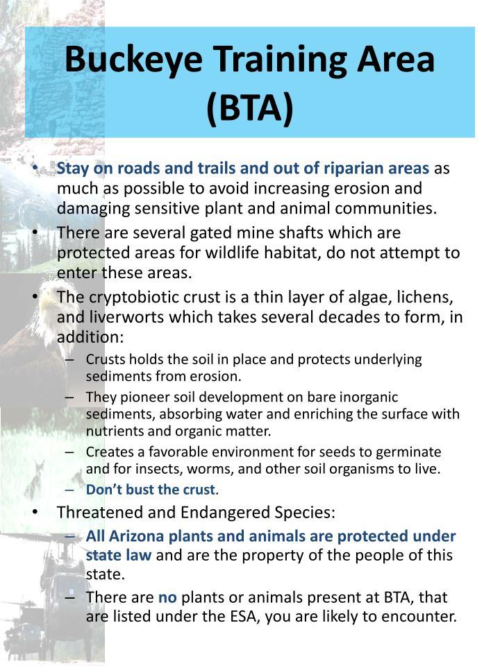 Buckeye Training Area (BTA)