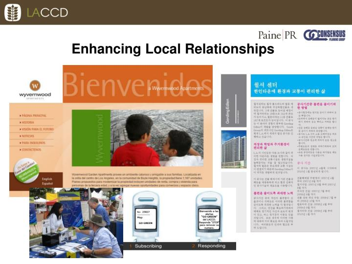 Enhancing Local Relationships
