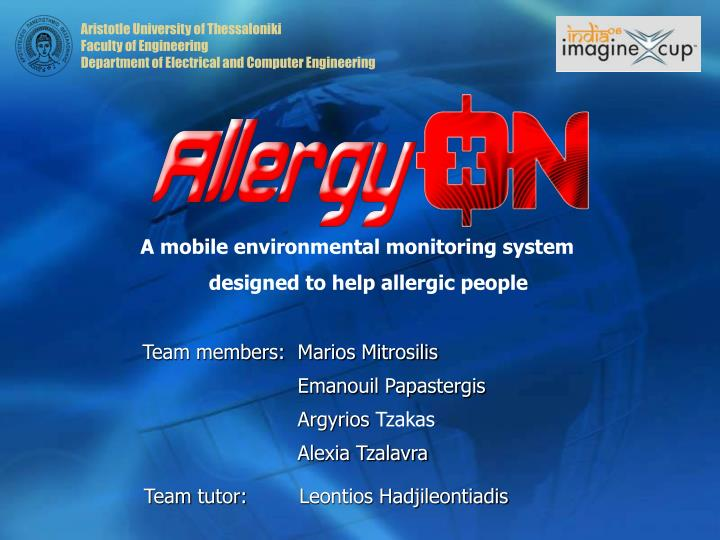 A mobile environmental monitoring system