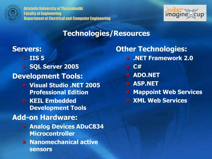 Technologies/Resources