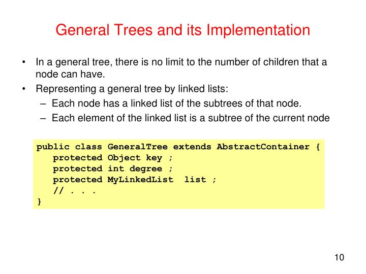 General Trees and its Implementation